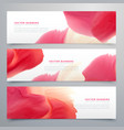 abstract red watercolor banner set vector image