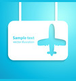 Air plane applique background Aircraft vector image vector image