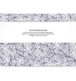 Beautiful floral invitation card Black and white vector image vector image