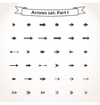 Black set arrows vector image vector image