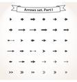 Black set arrows vector image
