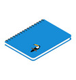 blue spiral notebook with exotic bird toucan vector image vector image