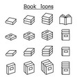 book icon set in thin line style vector image vector image