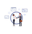 business agreement flat poster vector image