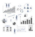 business doodle elements infographics vector image