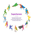 cartoon characters people super heroes banner card vector image vector image