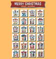 cartoon christmas advent calendar vector image