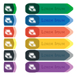 Cash register machine icon sign Set of colorful vector image
