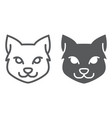 cat line and glyph icon halloween and pet vector image vector image