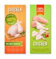 chicken meat vertical banners vector image vector image