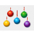 christmas baubles set objects isolated on vector image vector image