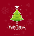 christmas green tree design vector image vector image