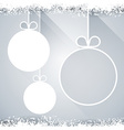 Christmas paper balls on light background vector image vector image