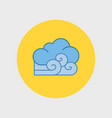 cloudy and the wind icon vector image