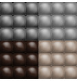 color buttoned leather upholstery pattern texture vector image vector image