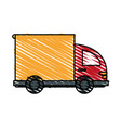 color crayon stripe cartoon side view small vector image vector image