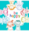 colorful children vector image
