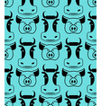 Cow and pig seamless pattern head of boar and bull vector image vector image