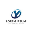 creative modern letter y logo design concept vector image