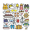 cruise marine sketch for holiday colorful vector image vector image