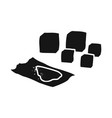cube and drugs symbol vector image vector image