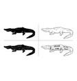 cut of crocodile set poster butcher diagram vector image vector image