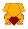 cute dog with empty label chinese new year vector image vector image