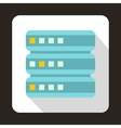 Database icon flat style vector image vector image