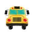 drawing school bus design vector image vector image