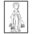 Empire style dress vector image