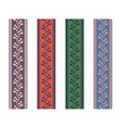 fancy strap border leaves pattern design tapes vector image