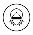 Femida head icon vector image vector image