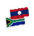 flags laos and republic south africa on a vector image vector image