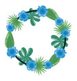 flower leaves foliage wreath decoration vector image vector image