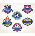 football or soccer logos vector image vector image
