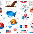 fourth july independence day seamless pattern vector image