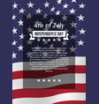 fourth july poster vector image vector image