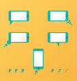 Gadget smartphone empty speech bubbles yellow vector image