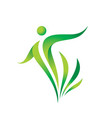 Green nature logo template