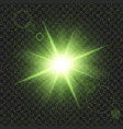 green shine stars with glitters effect graphic vector image vector image