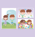 happy childrens day cute little kids celebration vector image