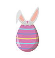 happy easter egg with rabbit ears vector image vector image