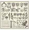 Heraldic elements collection vector | Price: 3 Credits (USD $3)