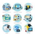 Icons set banners for business vector image