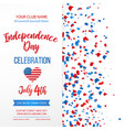 independence day celebration fourth of july vector image