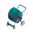 isometric baby carriage isolated on a white vector image vector image
