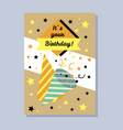 its your birthday postcard vector image