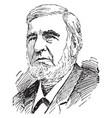 judge david davis vintage vector image vector image