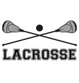 Lacrosse sticks and ball Flat style vector image vector image