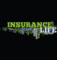 life insurance coverage text background word vector image vector image
